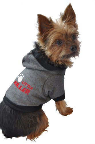 Ruff Ruff and Meow Dog Hoodie, Little Killer, Black, Medium, My Pet Supplies