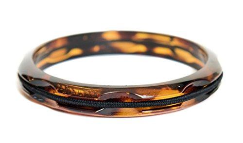 Maria Shireen Hair Tie Bangle Tortoise Plastic - Thick Plastic Bracelet