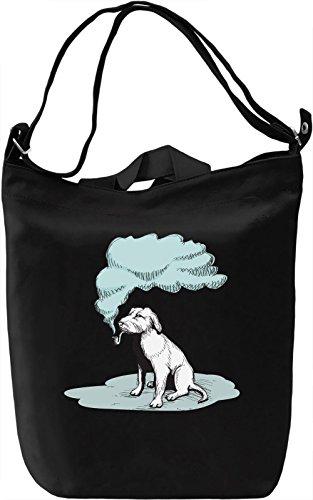 Smoking dog Borsa Giornaliera Canvas Canvas Day Bag| 100% Premium Cotton Canvas| DTG Printing|