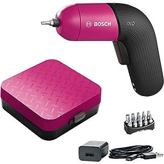 Bosch Akkuschrauber IXO (6. Generation, pink, integrierter Akku mit Mikro-USB-Lader, variable Drehzahlregelung, in Aufbewahrungsbox) 8