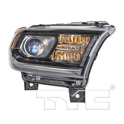 CH2503255 Fits 2014-2015 Dodge Durango Passenger Halogen Headlight Black Trim