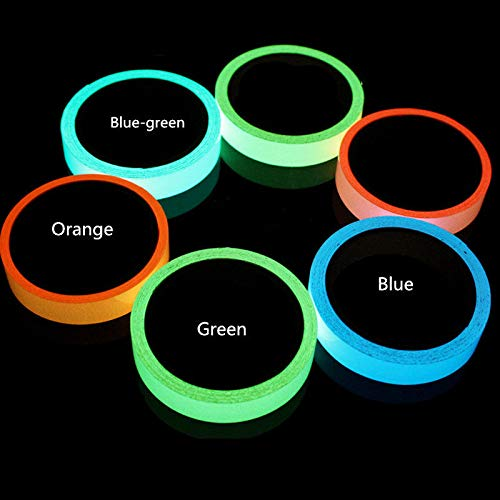 (16.4 ft x 1.6 inch Glow in The Dark Tape Self-Adhesive Fluorescent Tape Luminous Tape Wall Stickers Home Decoration (Light Green))