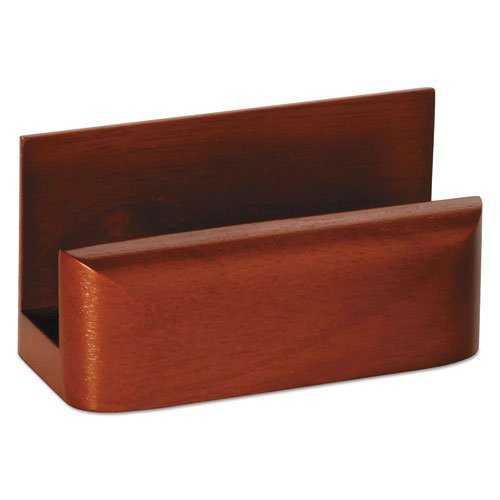 - Eldon Wood Tones Business Card Holder, Holds 50 Cards, Mahogany (ELD23330) Category: Business Card Holders