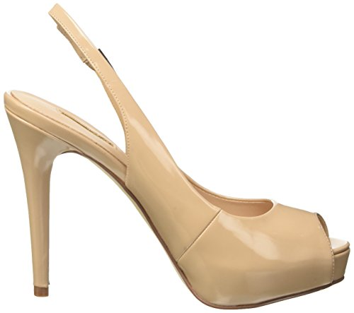 Heeled with Patent Guess Wedge Shoes Beige Women's Nude Pu txUwaR