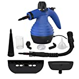 Comforday Steam Multi Purpose Handheld Cleaners High Pressure Steamer with 9-Piece Accessories, Perfect for Stain Removal, Carpet,Curtains, Car Seats,Floor,Window Cleaning, Blue