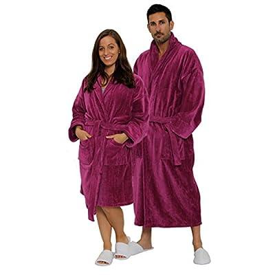 TowelRobes Terry Velour Shawl Robe 100% Cotton Women's and Men's Bathrobe