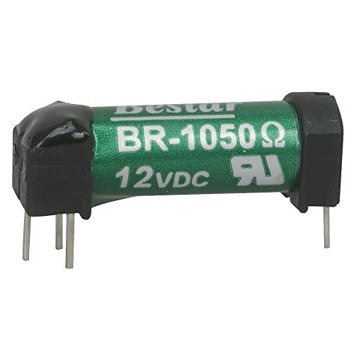 "Bestar Electric BR-1050-VP Reed Relays, SPST-NO, 0.5A, 12VDC, 1050 Ohm, Through Hole, 1"" L x 0.37"" W x 0.38"" H (Pack of 2)"