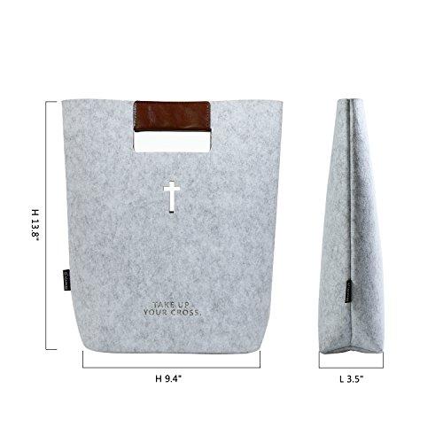 grigio borsetta in per borsa grigio semplicità Agapass grey Decor ecopelle Christian piccola grey in feltro causale v5XCwxq7