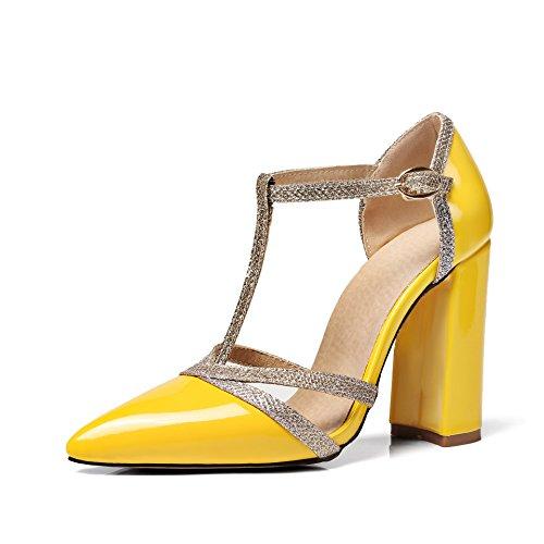 Sintético Para Vestir Amarillo Sandalias De Mujer Unbekannt wxq1OtvI
