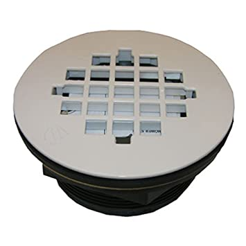 LASCO 03 1251 Shower Drain For Fiberglass Shower Stalls And Pans, White  Finish