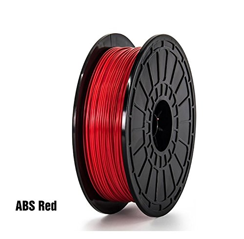 ABS-Red-FlashForge-3D-Printer-Premium-Filament-175-mm-Diameter-NW06-Kg-Per-Spool-for-Dreamer-3D-Printer-Not-for-Finder