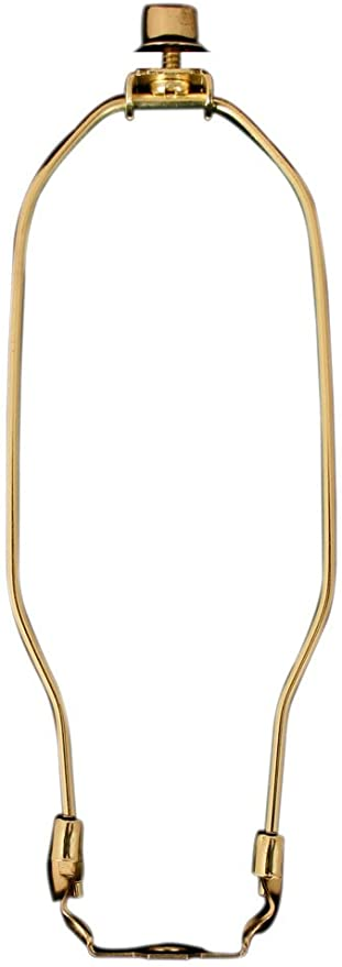 More Sizes Available Polished Brass Finial and Lamp Harp Holder Set HA-1001-9BR-1 Royal Designs 9 Heavy Duty Lamp Harp