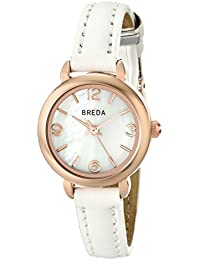 Women's 1639E Rose Gold-Tone Watch with White Leather Strap