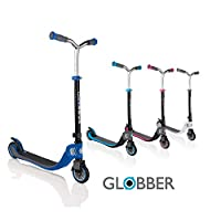 Globber Flow Foldable 125 2-Wheel Scooters Perfect Choice for Children to Transition to Their First 2-Wheel Scooter. Adjustable Features, Robust Design