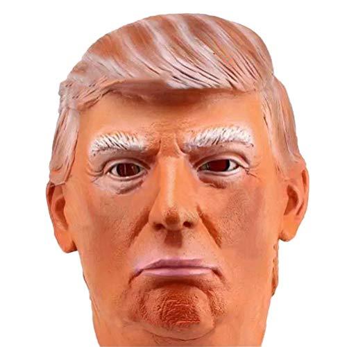 barsku Donald Trump Mascara, mascara Presidencial Presidencial Republicana Mascara de Halloween Mascaras de Triunfo para Adultos Latex Realista