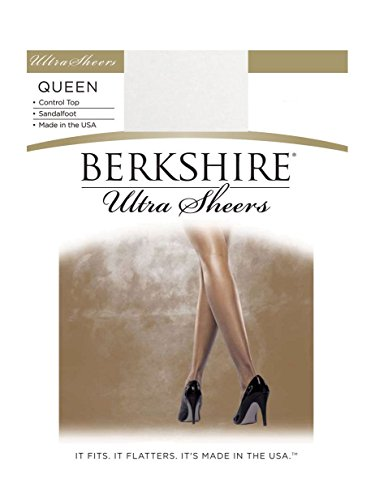 Berkshire Women's Plus-Size Queen Size Ultra Sheer Control Top Pantyhose - 4411, White, 1X-2X
