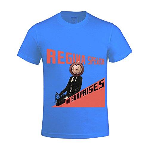 [Regina Spektor No Surprises Men T Shirts Crew Neck Sleeveless Blue] (Traditional Russian Outfits)