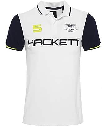 Hackett Hombres Slim Fit Aston Martin Racing alas camisa de Polo ...