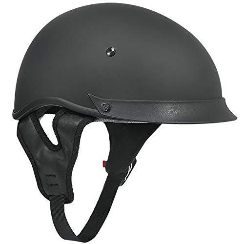 Outlaw T 72 Matte Black Dual Visor Motorcycle Half Helmet