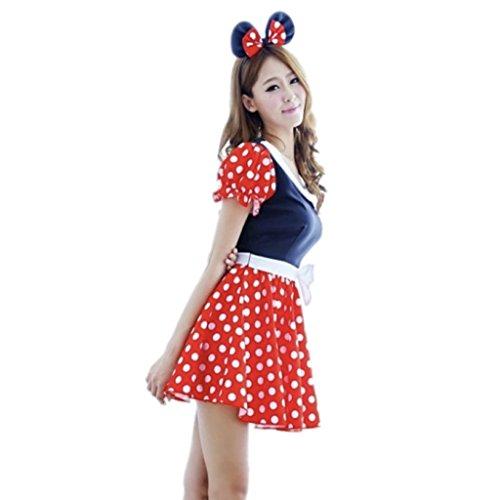 【ノーブランド】コスプレ衣装ハロウィン仮装ミニーちゃんミニーマウスキャラクターレディースかわいいセクシーカチューシャ