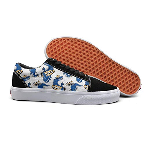 Dinosaur new york vanï¼osaur blue usa Women Canvas Shoes oldskoo athletic shoes low top (Barneys New York Check)