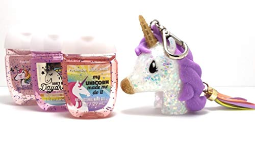 Bath Believe (Bath and Body Works PocketBac Hand Sanitizers Unicorn Favorites and Purple Unicorn Holder 3-Pack 1 Oz. I Believe in Humans, Don't Quit Your Daydream and My Unicorn Made Me Do It.)
