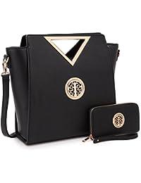 Lightweight Women Handbag, Medium Lady Satchel Multi Pockets Tote Designer Purse for Teen Girls Mom Summer Gift