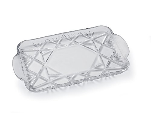 Mikasa Saturn Glass Handled Tray, 14.75-Inch