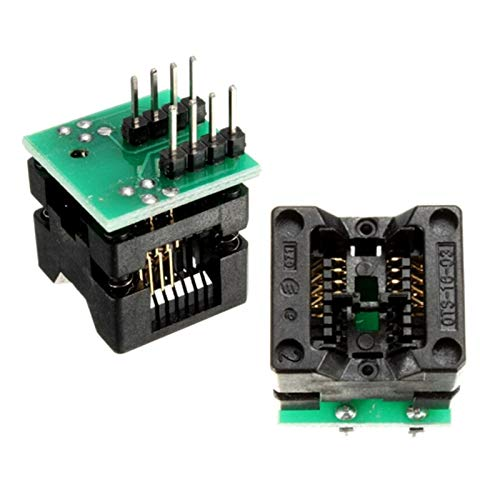 Gimax SOIC8 SOP8 to DIP8 EZ Socket Converter Module Programmer Output Power Adapter With 150mil Connector SOIC 8 SOP 8 To DIP 8