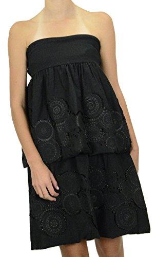 Black Strapless Bubble Dress - Adam & Eve Women's Bubble Hem Strapless Dress, Black, 6