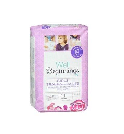 Well Beginnings Girls Training Pants with My Little Pony (Walgreens Premium), Size 4T/5T - Jumbo (19 Pants)