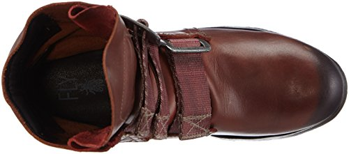Fly London Stif, Bottes Motardes Femme Rouge (Brick 019)