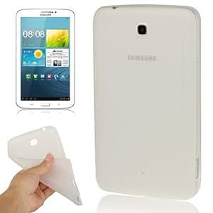 Pure Color-Anti skid Translucent Funda TPU Case Cover lápiz para pantalla táctil para Samsung Galaxy Tab 3 7,0 P5210 ()/(Transparent)