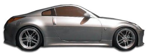 Skirts Speed Side (Duraflex 105647 2003-2008 Nissan 350Z Z33 Duraflex V-Speed Side Skirts Rocker Panels -)