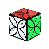 JIAAE 4X4 Puzzle Rubik's Cube Four-Leaf Clover Allotype Rubik Children Aesthetically Toy,Black
