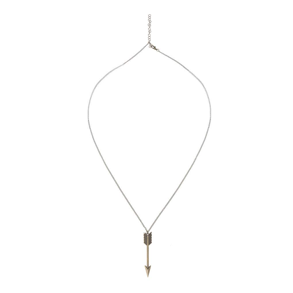 Yalice Boho Arrow Pendant Necklace Chain Long Drop Pendant Necklaces Jewelry for Women and Girls