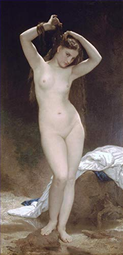 ($50-$2000 Handmade Oil Painting by College Teachers - Baigneuse 1870 William Adolphe Bouguereau Nude Classic NCC1 Canvas Art for Home Wall Decoration -Large Size 12)