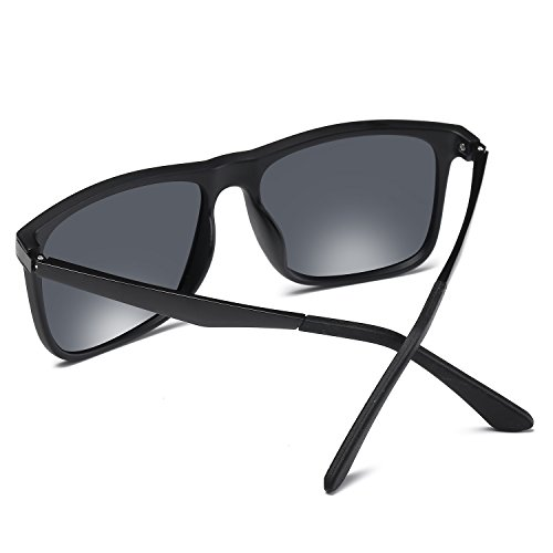 Lens Gafas 3 Frame Hombre Excelentes Modelo Sol WS021 Gafas Conducir Bicicleta Classic Gray design Vintage Para Montar Y Black De BVAGSS Polarizado nTw08qH1q