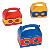 Arts & Crafts : Superhero Treat Boxes - 12 ct by Party Favors