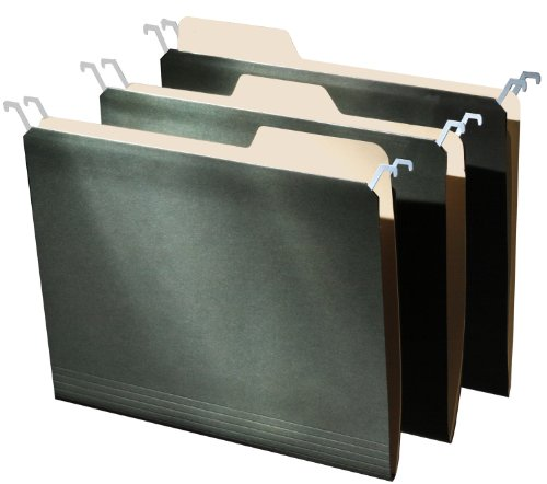 Find It Tab View Hanging File Folders Letter Size 9 Folders per Pack - Green (FT07032)