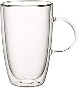 Villeroy & Boch Artesano Hot Beverages Cup : Extra Large-Set of 2, 5.5 in, Crystal Glass, Clear