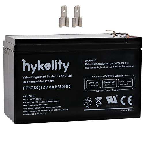 Alarm System Backup - Hykolity 12V Battery 8AH Lead Acid Rechargeable for Home Alarm Security System, APC Back-UPS ES 750 BE550G UPS, Verizon FiOS GT12080-HG, F2 Terminal with F1 Adapters