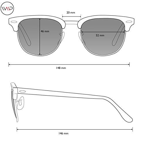 WearMe Pro - Classic Half Frame Polarized Semi-Rimless Rimmed Sunglasses Flashing Green