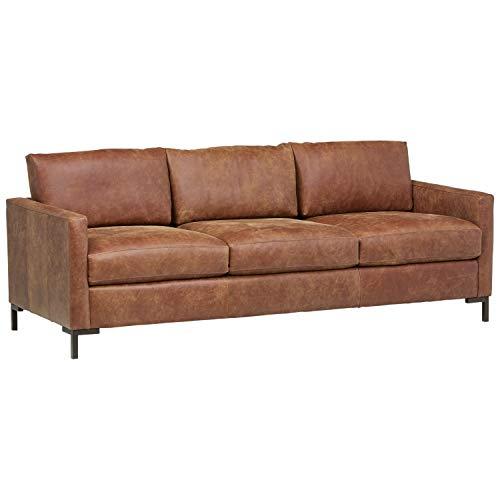 Rivet Edgewest Modern Sofa, Leather, 87