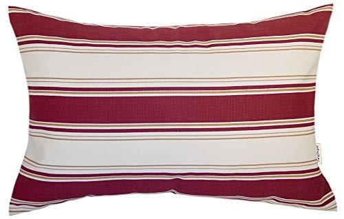 (TangDepot Decorative Handmade Stripe Cotton Throw Pillow Cover, Pillow Sham, Euro sham, Lumbar Pillow Shell, Pillowcase - (12