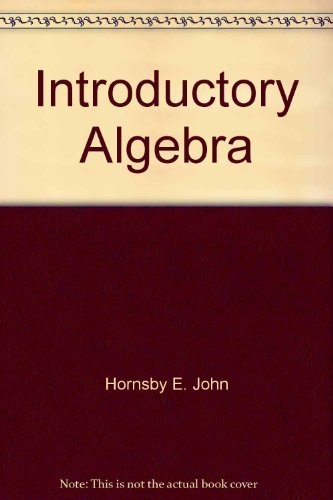 Introductory Algebra - Student's Manual
