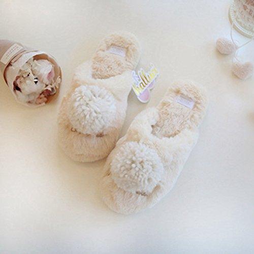 Slippers Skid Winter Champagne Non BERTERI Warm and Women's Interior Color Cute SqxFFWUtn