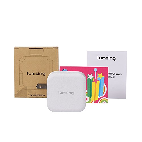 Lumsing Quick Charge 2 Port Wall Charger, 20W QC2.0 Dual USB Port Travel Charger for iPhone,Samsung Galaxy S5 S6 Edge Note 4 5, Google Nexus 6, Sony Xperia Z3 Z4 Tablet-Grey by Lumsing (Image #6)