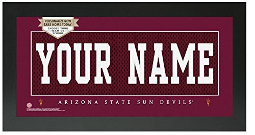 - Arizona State Sun Devils NCAA Custom Jersey Nameplate Framed Sign