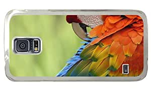Hipster Samsung Galaxy S5 Case rugged Colorful Parrot PC Transparent for Samsung S5